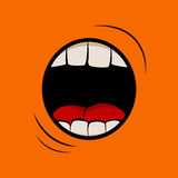 Scream. Vector illustration with screaming mouth Royalty Free Stock Photos