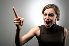 Scream 98. A woman with a screaming expression Stock Photo