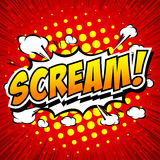 Scream! Comic Speech Bubble, Cartoon. Royalty Free Stock Photo
