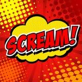 Scream! Comic Speech Bubble, Cartoon. Royalty Free Stock Images