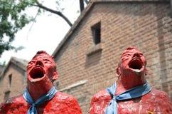 Scream in 798 district in Beijing. Sculptures in Beijing in the street Royalty Free Stock Images