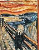 The Scream 1893 by Edvard Munch royalty free illustration