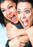 Scream females Stock Images