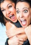 Scream females stock images