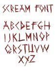 Scream font. My font that i entitled scream Stock Image