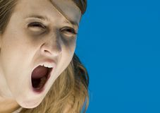 Scream of horror Royalty Free Stock Images