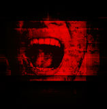 Scream. Horror Background For Movies Poster Project Royalty Free Stock Image