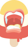 Scream Ice Cream Icon Royalty Free Stock Photography