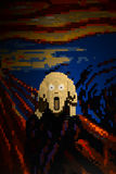 The scream in lego Royalty Free Stock Images