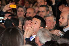The scream of Matteo Renzi Stock Photo