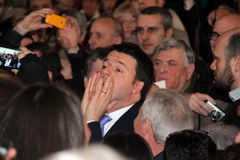 The scream of Matteo Renzi Stock Photos