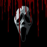 Scream Scary Bloody. Scream Scary Horror Bloody Mask Icons Vector Royalty Free Stock Images