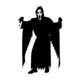 Scream Scary 2. Scream Scary Horror Icons Vector 2 Royalty Free Stock Images