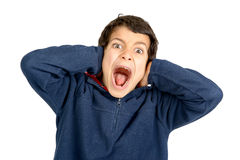 Scream and shout Stock Images