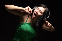 Scream and sing Stock Photography