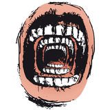 Scream surreal (vector) Stock Images