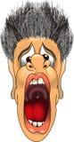 Scream_yell_1.jpg. Cartoon graphic depicting a man screaming Royalty Free Stock Photo