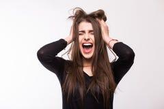 Scream young girl Stock Photos