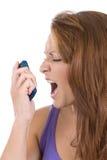 Screamer del telefono Fotografie Stock Libere da Diritti