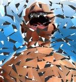 Screamer quebrado Imagens de Stock