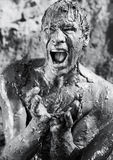 screaming человека нагой Стоковая Фотография RF