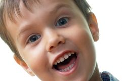 Screaming. Headshoot of a young boy screaming Royalty Free Stock Images