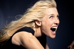 Screaming Royalty Free Stock Photo