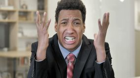 Screaming Angry African Businessman stock video