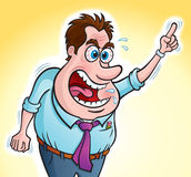 Screaming Angry Boss Stock Photography