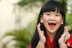 Screaming Asian Child Royalty Free Stock Photos