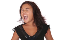 Screaming asian girl Stock Image