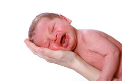 Screaming baby boy Royalty Free Stock Photos