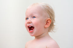 Screaming baby, closeup Royalty Free Stock Photos