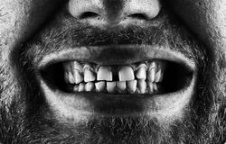 Screaming bearded mouth Stock Photography
