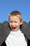 Screaming boy Stock Image