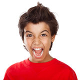 Screaming boy portrait Royalty Free Stock Photos