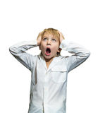 Screaming boy Stock Images