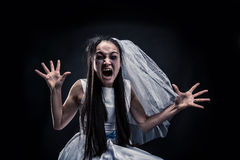 Screaming bride Stock Image