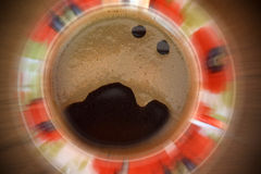 Screaming bursting cup of coffee Stock Photography