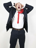 Screaming businesman Royalty Free Stock Photo