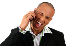 Screaming Business-Man Royalty Free Stock Photography