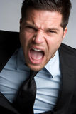 Screaming Businessman Stock Photos