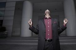 Screaming businessman Stock Photo
