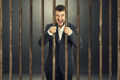 Screaming businessman Stock Photo