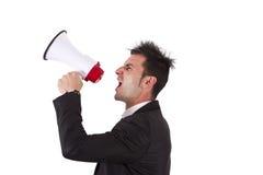 Screaming businessman Royalty Free Stock Image