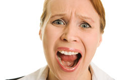 Screaming businesswoman Royalty Free Stock Photo