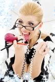 Screaming businesswoman Royalty Free Stock Photos