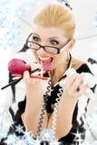 Screaming businesswoman Royalty Free Stock Photos