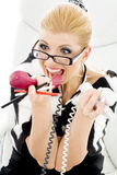 Screaming businesswoman Stock Photography