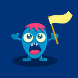 Screaming cartoon character Royalty Free Stock Images
